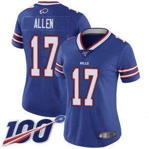 Women Bills Josh Allen 100th Season Jersey (3)